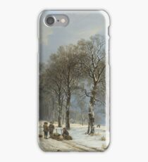 Barend Cornelis Koekkoek - Winter Landscape iPhone Case/Skin