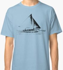 Sail Boat Graphic Sketch Classic T-Shirt