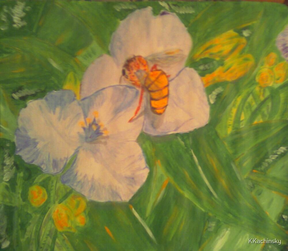Bee on a Leaf... by KKachinsky