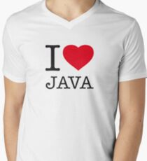 I ♥ JAVA Mens V-Neck T-Shirt