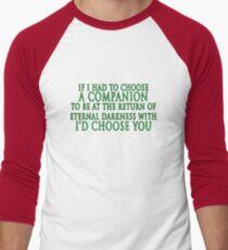 I'd Choose You (Slytherin Colours) Men's Baseball ¾ T-Shirt