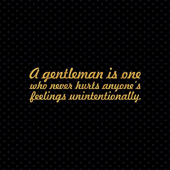 """A gentleman is one... """"Oscar Wilde"""" Inspirational Quote (Square) by Powerofwordss"""