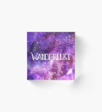 Wanderlust Galaxy Acrylic Block