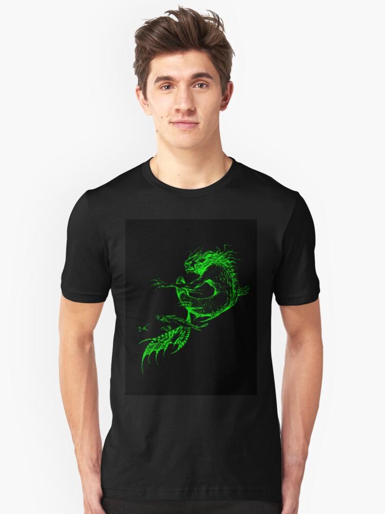 Fantasy Fish Dragon Unisex T-Shirt Front