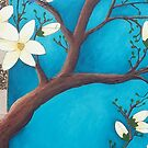 Blue Magnolia crop1 by Leanne Inwood
