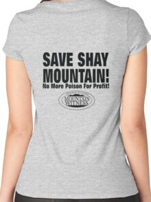 Save Shay Mountain Protest Shirt Back Women's Fitted Scoop T-Shirt