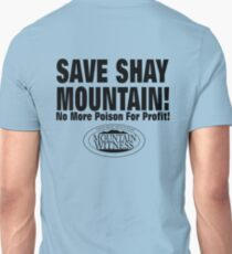 Save Shay Mountain Protest Shirt Back T-Shirt