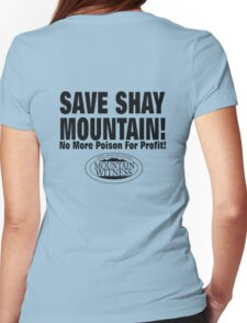 Save Shay Mountain Protest Shirt Back Womens Fitted T-Shirt