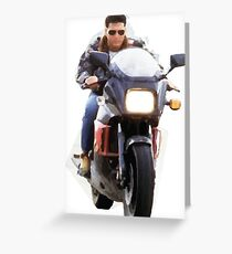 Top Gun - Tom Cruise bike moto Greeting Card