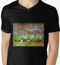 Pretty Pots All In A Row Mens V-Neck T-Shirt