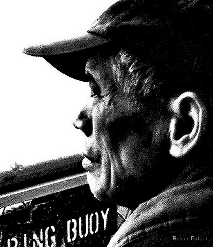 Old Man on the Ferry  by Ben de Putron