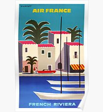 1965 Air France French Riviera Travel Poster Poster