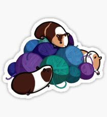 Guinea pigs and yarn Sticker