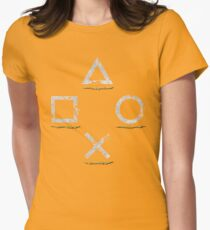 Adventurous Button Icons (Ver. 1) Womens Fitted T-Shirt