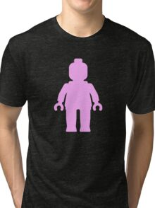 Minifig [Light Pink] Tri-blend T-Shirt