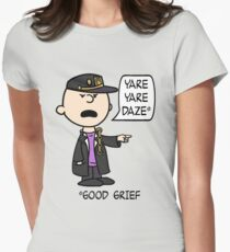 Peanuts' Bizarre Adventure Womens Fitted T-Shirt