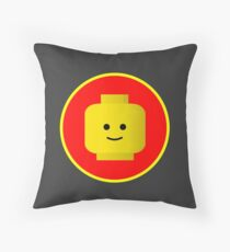 MINIFIG HAPPY FACE Throw Pillow