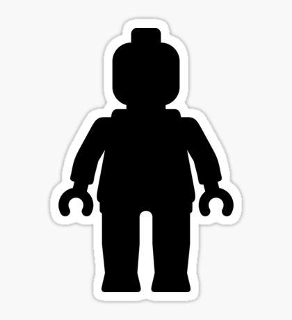 Minifig [Large Black] Sticker