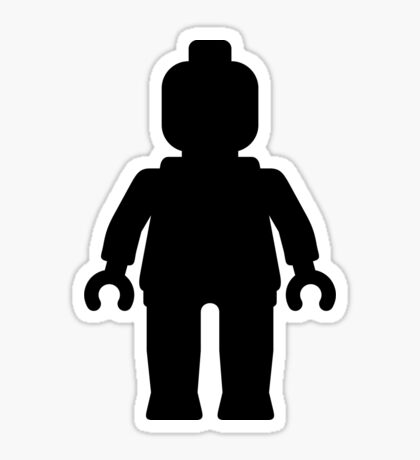 Minifig [Large Black] Sticker