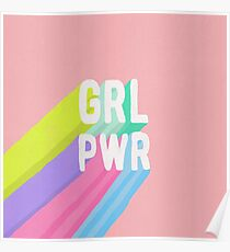 GRL PWR x Rosa Poster
