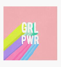 GRL PWR x Pink Photographic Print