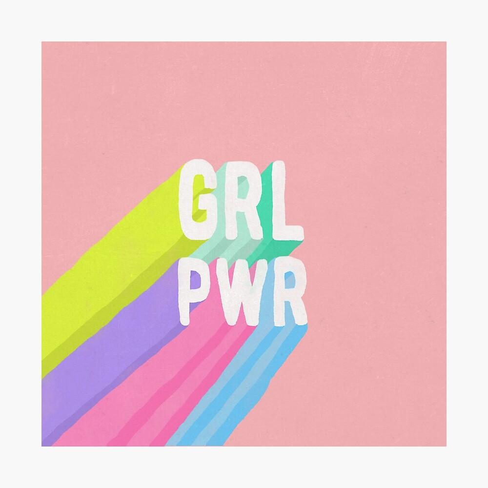 GRL PWR x Pink Photographic Print