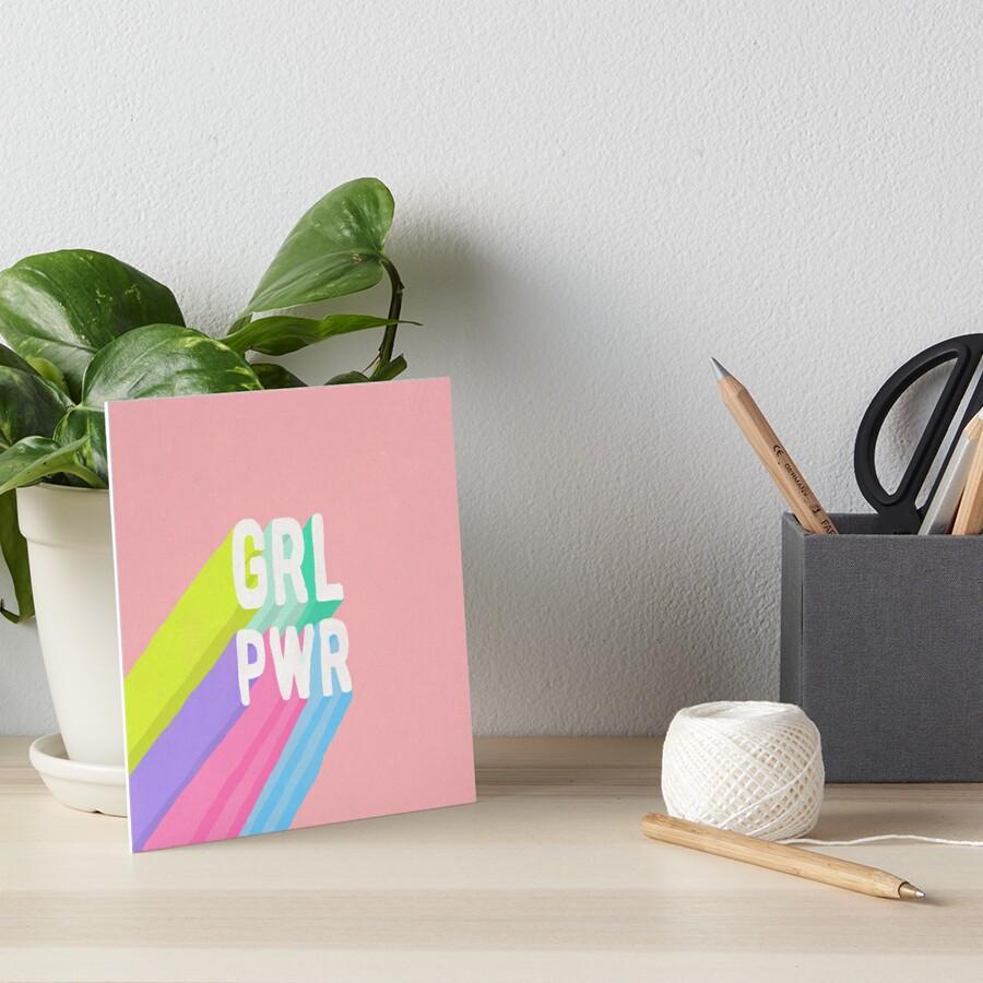 GRL PWR x Pink Art Board Print
