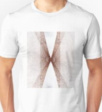 Marble Rose Gold Glitter Line Design T-Shirt