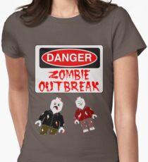 DANGER ZOMBIE OUTBREAK Women's Fitted T-Shirt