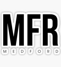 MFR - Medford Airport Code Sticker