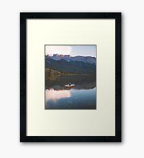 Talbot Lake Row Boat Framed Print