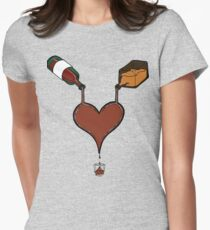Love Cocktails & Hooch Hearts Womens Fitted T-Shirt