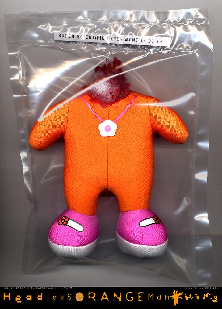 Headless Orange Man Thing by santakaoss