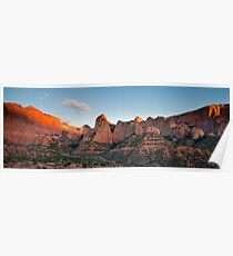 Kolob Canyon at sunset Poster