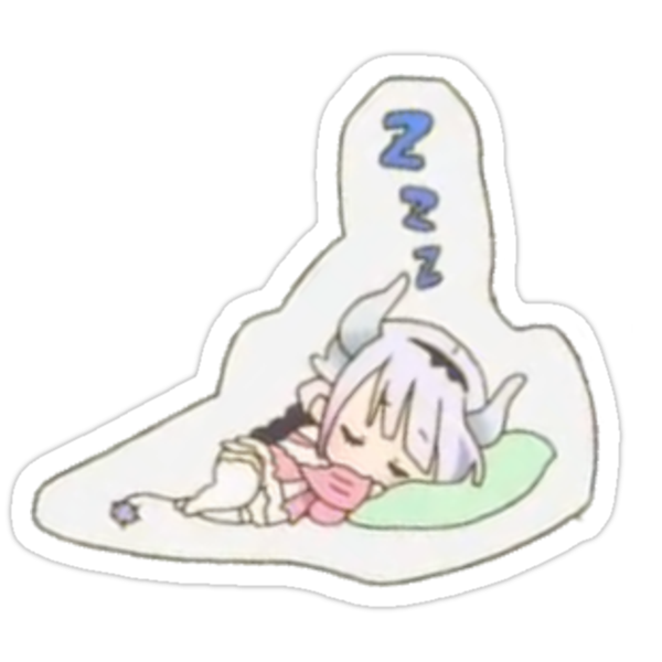 miss kobayashi 39 s dragon maid kanna sticker stickers by mathew perry redbubble. Black Bedroom Furniture Sets. Home Design Ideas
