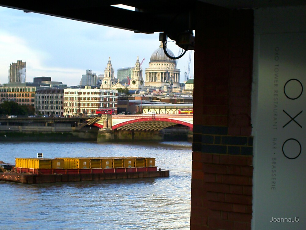 Across The River Thames by Joanna Jeffrees