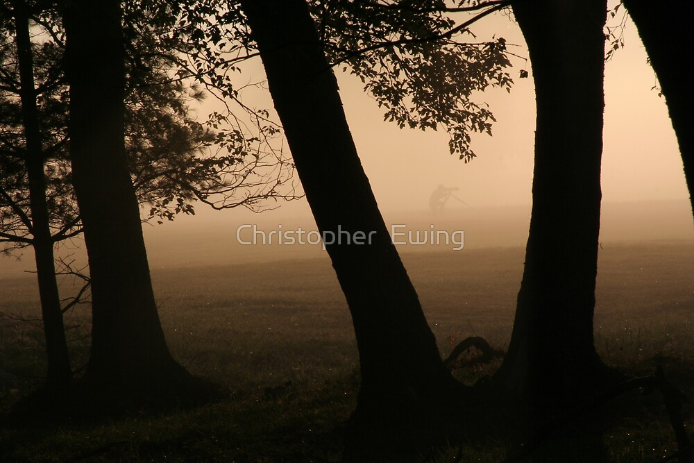 photog in the fog by Christopher  Ewing