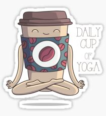 Daily Cup of Yoga Sticker