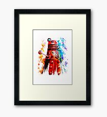 Multicoloured Dalek Framed Print