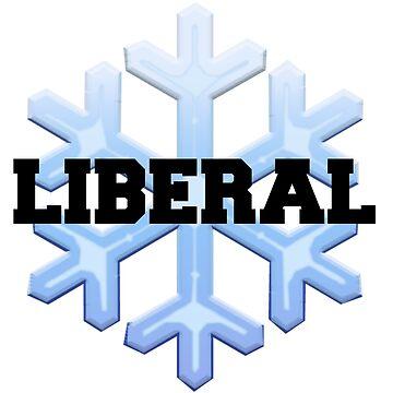 Liberal Snowflake Print by fostercollin