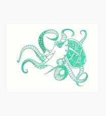 Cloctopus Green Art Print