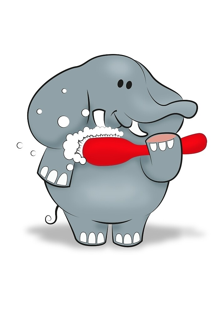 """Kids Toothpaste And Toothbrush """"Elephant and Too..."""