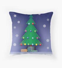 A Christmas scene Throw Pillow
