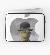 Apple Logo Rene Magritte Laptop Sleeve