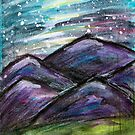 Purple Mountains at Night by Kendra Kantor