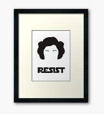 Princess Leia - Resist Framed Print