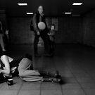 sleeping in a Subwaystation 2 by grayscaleberlin