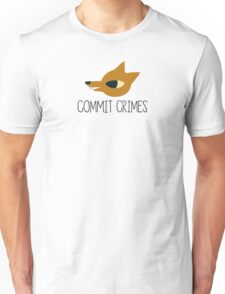 Night In The Woods - Commit Crimes - Black Clean Unisex T-Shirt