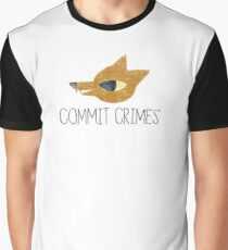Night In The Woods - Commit Crimes - Black Dirty Graphic T-Shirt