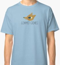 Night In The Woods - Commit Crimes - Black Dirty Classic T-Shirt